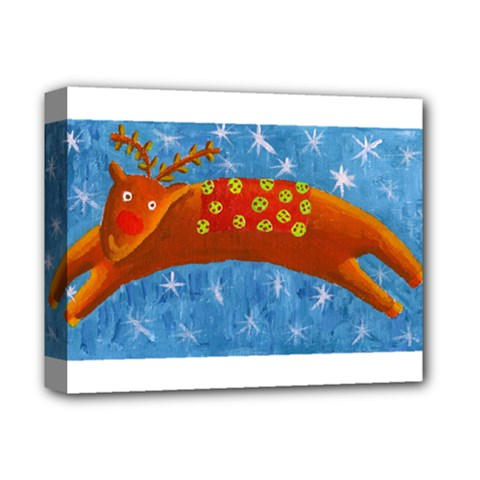 Rudolph The Reindeer Deluxe Canvas 14  X 11  by julienicholls