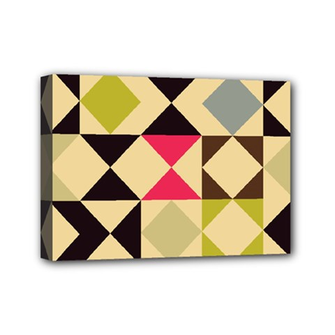 Rhombus And Triangles Pattern Mini Canvas 7  X 5  (stretched) by LalyLauraFLM