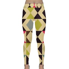 Rhombus And Triangles Pattern Yoga Leggings