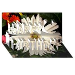 Daisyc Happy Birthday 3d Greeting Card (8x4)  by infloence