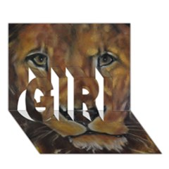 Cecil The African Lion Girl 3d Greeting Card (7x5)