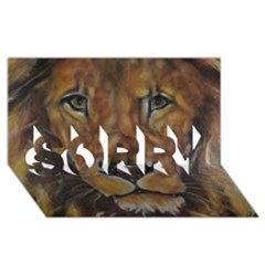 Cecil The African Lion Sorry 3d Greeting Card (8x4)  by timelessartoncanvas