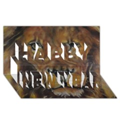 Cecil The African Lion Happy New Year 3d Greeting Card (8x4)  by timelessartoncanvas