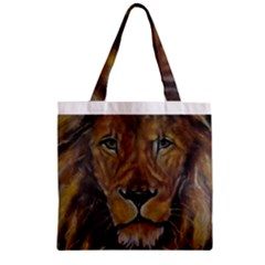 Cecil The African Lion Zipper Grocery Tote Bags