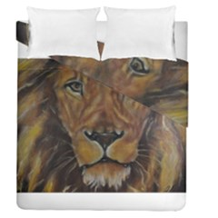 Cecil The African Lion Duvet Cover (full/queen Size) by timelessartoncanvas