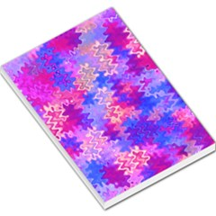 Pink And Purple Marble Waves Large Memo Pads