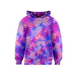 Pink And Purple Marble Waves Kid s Pullover Hoodies