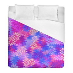 Pink And Purple Marble Waves Duvet Cover Single Side (twin Size) by KirstenStar