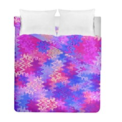 Pink And Purple Marble Waves Duvet Cover (twin Size) by KirstenStar