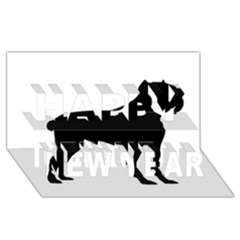 Cane Corso Silo Black Happy New Year 3D Greeting Card (8x4)