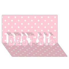 Pink Polka Dots Best Sis 3d Greeting Card (8x4)  by LokisStuffnMore