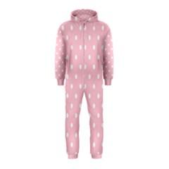 Pink Polka Dots Hooded Jumpsuit (kids)