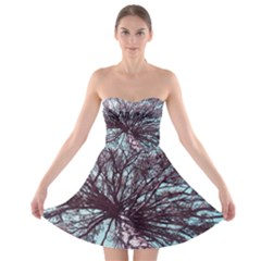 Under Tree Paint Strapless Bra Top Dress