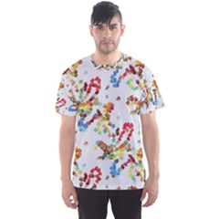 Colorful Paint Strokes Men s Sport Mesh Tee