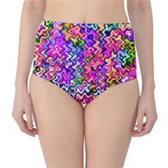 Swirly Twirly Colors High Waist Bikini Bottoms