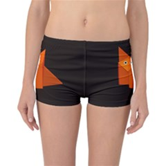 Dark Cute Origami Fox Reversible Boyleg Bikini Bottoms