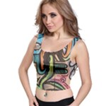 pop street graphic - Crop Top