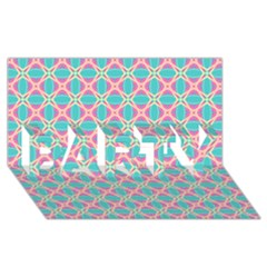 Cute Pretty Elegant Pattern Party 3d Greeting Card (8x4)