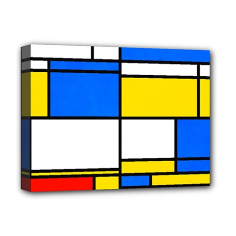 Colorful Rectangles Deluxe Canvas 16  X 12  (stretched)  by LalyLauraFLM