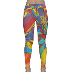 Colorful Miscellaneous Shapes Yoga Leggings by LalyLauraFLM