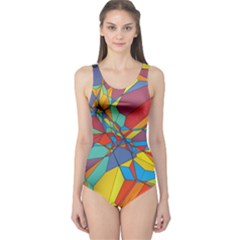 Colorful miscellaneous shapes Women s One Piece Swimsuit