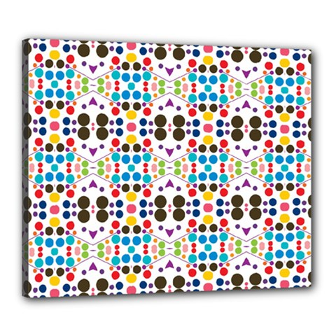 Colorful Dots Pattern Canvas 24  X 20  (stretched) by LalyLauraFLM