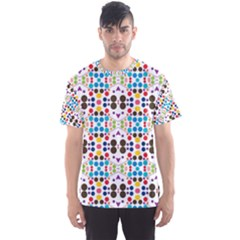 Colorful dots pattern Men s Sport Mesh Tee by LalyLauraFLM