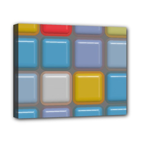 Shiny Squares Pattern Canvas 10  X 8  (stretched) by LalyLauraFLM