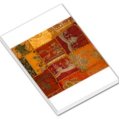 India Print Realism Fabric Art Large Memo Pads by TheWowFactor