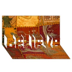 India Print Realism Fabric Art Believe 3d Greeting Card (8x4)  by TheWowFactor