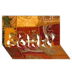 India Print Realism Fabric Art Sorry 3d Greeting Card (8x4)  by TheWowFactor