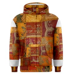 India Print Realism Fabric Art Men s Zipper Hoodies