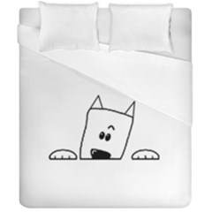 Peeping Westie Duvet Cover (Double Size) by TailWags