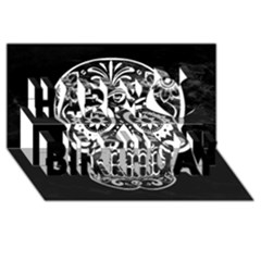 Skull Happy Birthday 3d Greeting Card (8x4)  by ImpressiveMoments