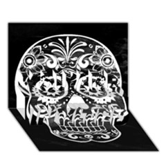 Skull You Are Invited 3d Greeting Card (7x5)  by ImpressiveMoments
