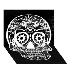 Skull Circle 3d Greeting Card (7x5)  by ImpressiveMoments