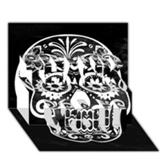 Skull Thank You 3d Greeting Card (7x5)