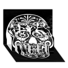 Skull Get Well 3d Greeting Card (7x5)  by ImpressiveMoments