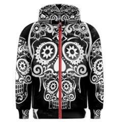 Skull Men s Zipper Hoodies by ImpressiveMoments