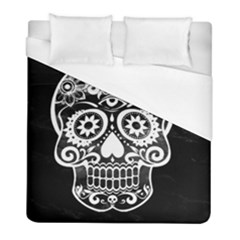 Skull Duvet Cover Single Side (Twin Size) by ImpressiveMoments