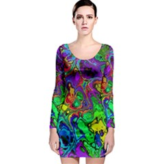 Powerfractal 4 Long Sleeve Bodycon Dresses