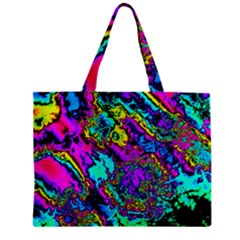 Powerfractal 2 Zipper Tiny Tote Bags