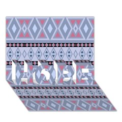 Fancy Tribal Border Pattern Blue Hope 3d Greeting Card (7x5)  by ImpressiveMoments