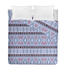 Fancy Tribal Border Pattern Blue Duvet Cover (twin Size) by ImpressiveMoments