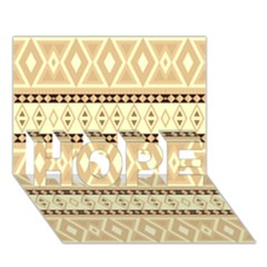 Fancy Tribal Border Pattern Beige Hope 3d Greeting Card (7x5)  by ImpressiveMoments