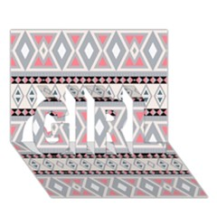Fancy Tribal Border Pattern Soft Girl 3d Greeting Card (7x5)