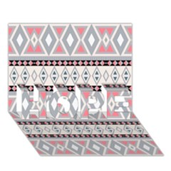 Fancy Tribal Border Pattern Soft Hope 3d Greeting Card (7x5)  by ImpressiveMoments