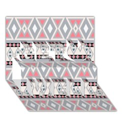 Fancy Tribal Border Pattern Soft Get Well 3d Greeting Card (7x5)  by ImpressiveMoments