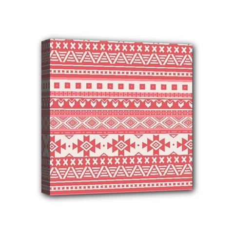 Fancy Tribal Borders Pink Mini Canvas 4  X 4  by ImpressiveMoments