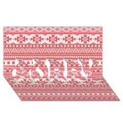 Fancy Tribal Borders Pink Sorry 3d Greeting Card (8x4)